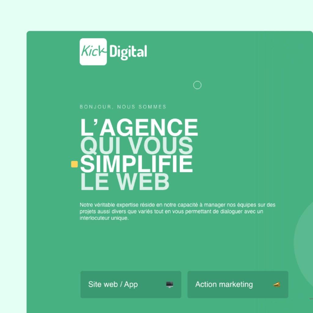 Kick Digital UI/UX Design